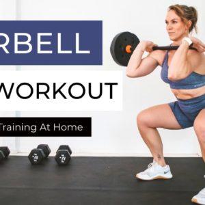30 MIN BARBELL LEG WORKOUT Follow Along   Build Strong, Lean Legs At Home