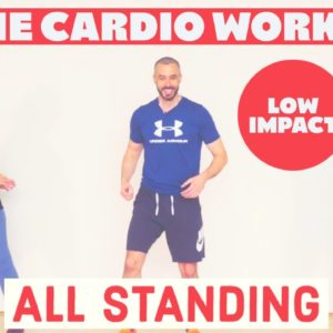 Low impact, fat burning, cardio workout from home.